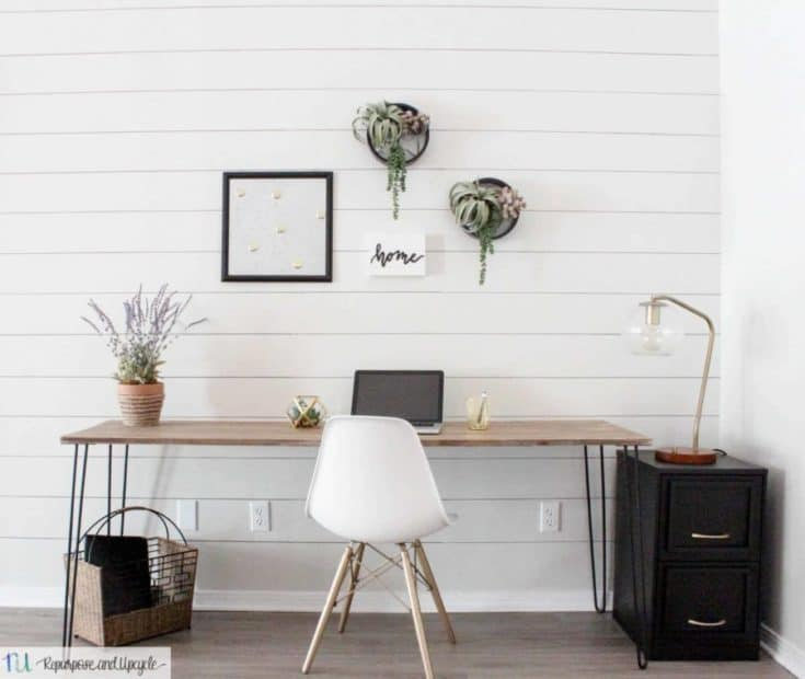 DIY Hairpin Leg Table for a Small office Space