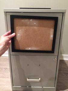 Easy filing cabinet makeover