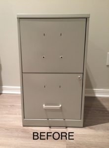 filing cabinet before the makeover