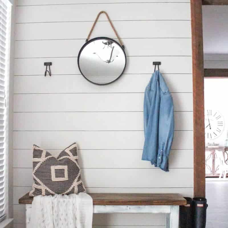 Entryway Makeover with Sharpie Shiplap