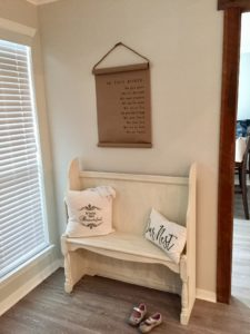 One Hour Entryway Makeover with Sharpie Shiplap