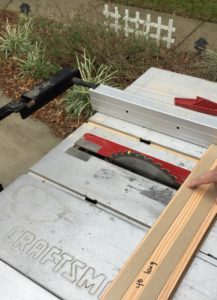 cutting Stikwood planks on table saw