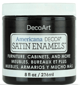 satin enamels paint in black
