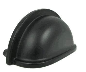 black dresser pull