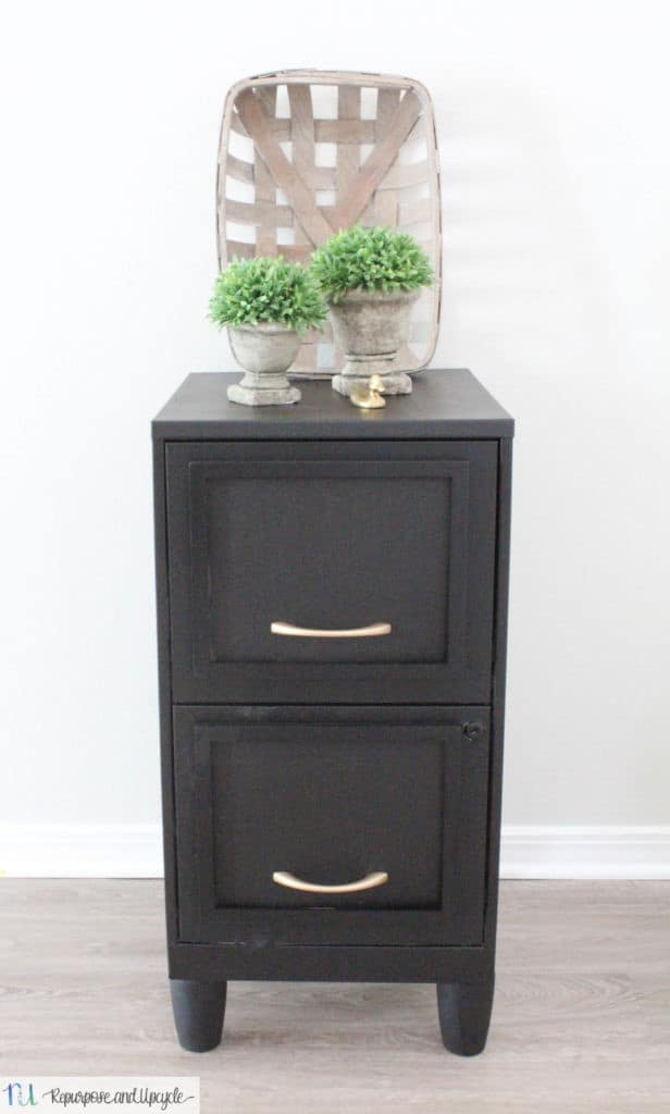 metal filing cabinet makeover