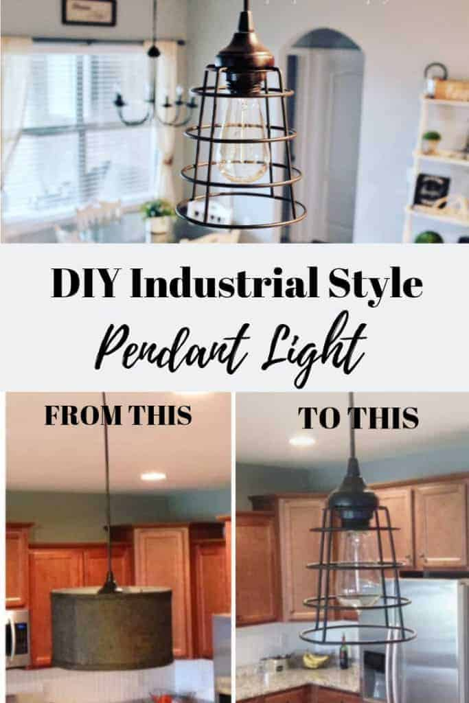 DIY industrial style pendant light