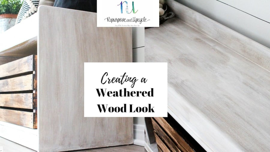 how to create a weathered wood look to a smooth surface