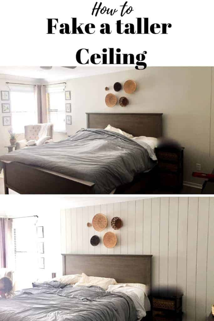 How to make a ceiling look taller before and after picture