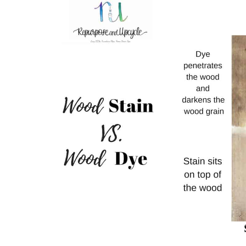 wood stain vs. wood dye