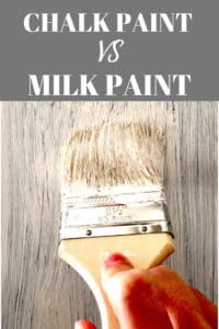 chalk paint vs. milk paint