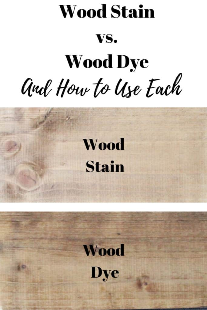 wood stain vs. wood dye and how to use each