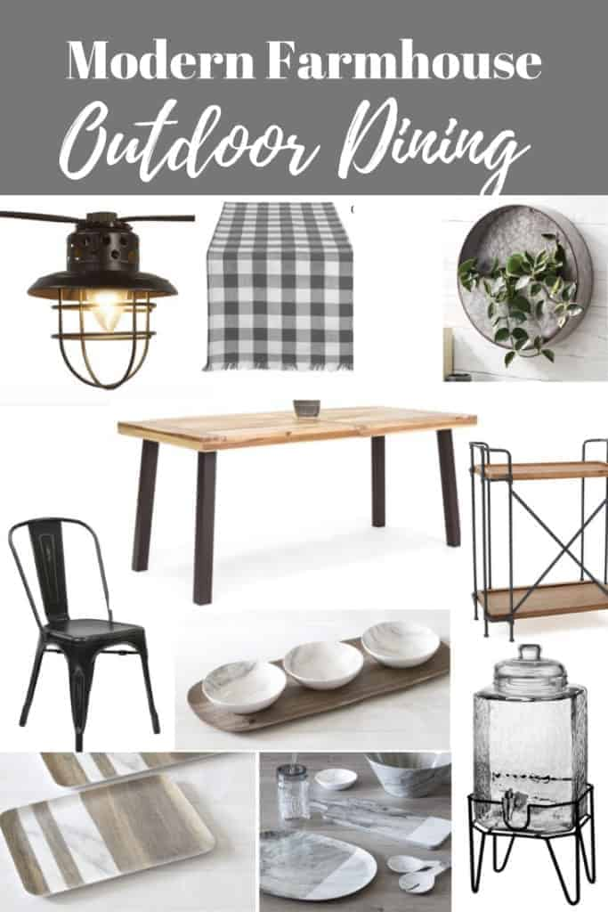 Affordable modern farmhouse outdoor dining products