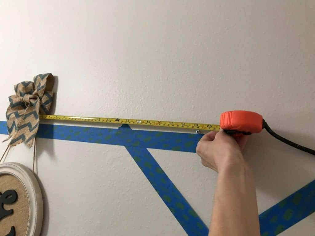 measuring for gallery wall