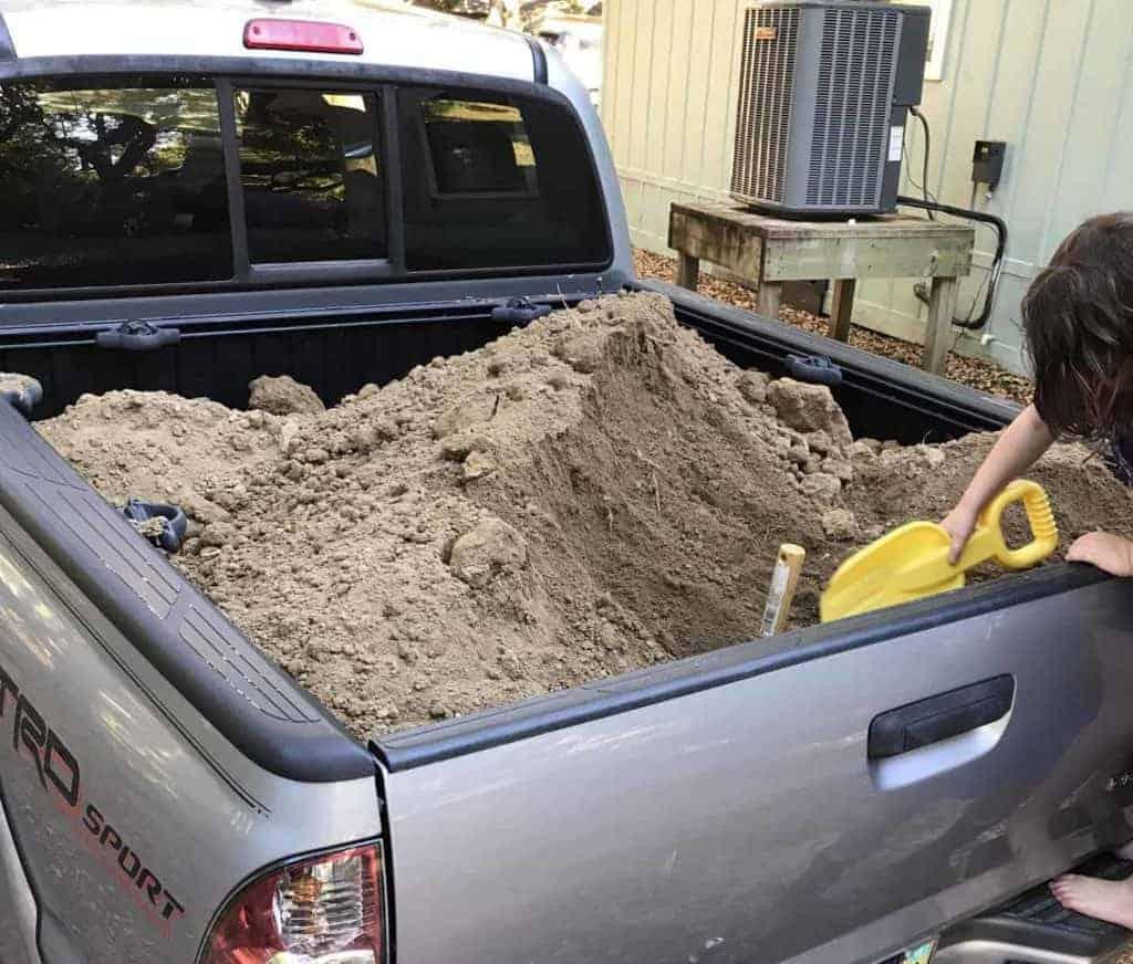 preparing the dirt for the garden