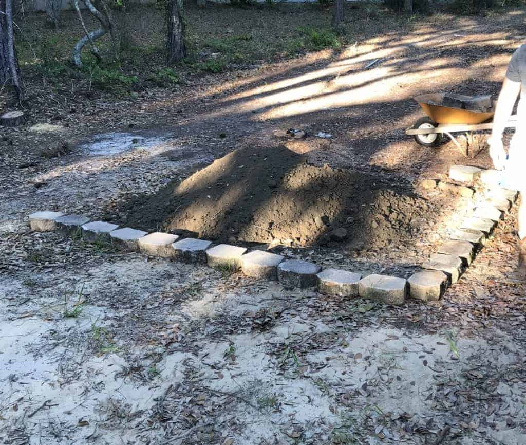 adding pavers for garden