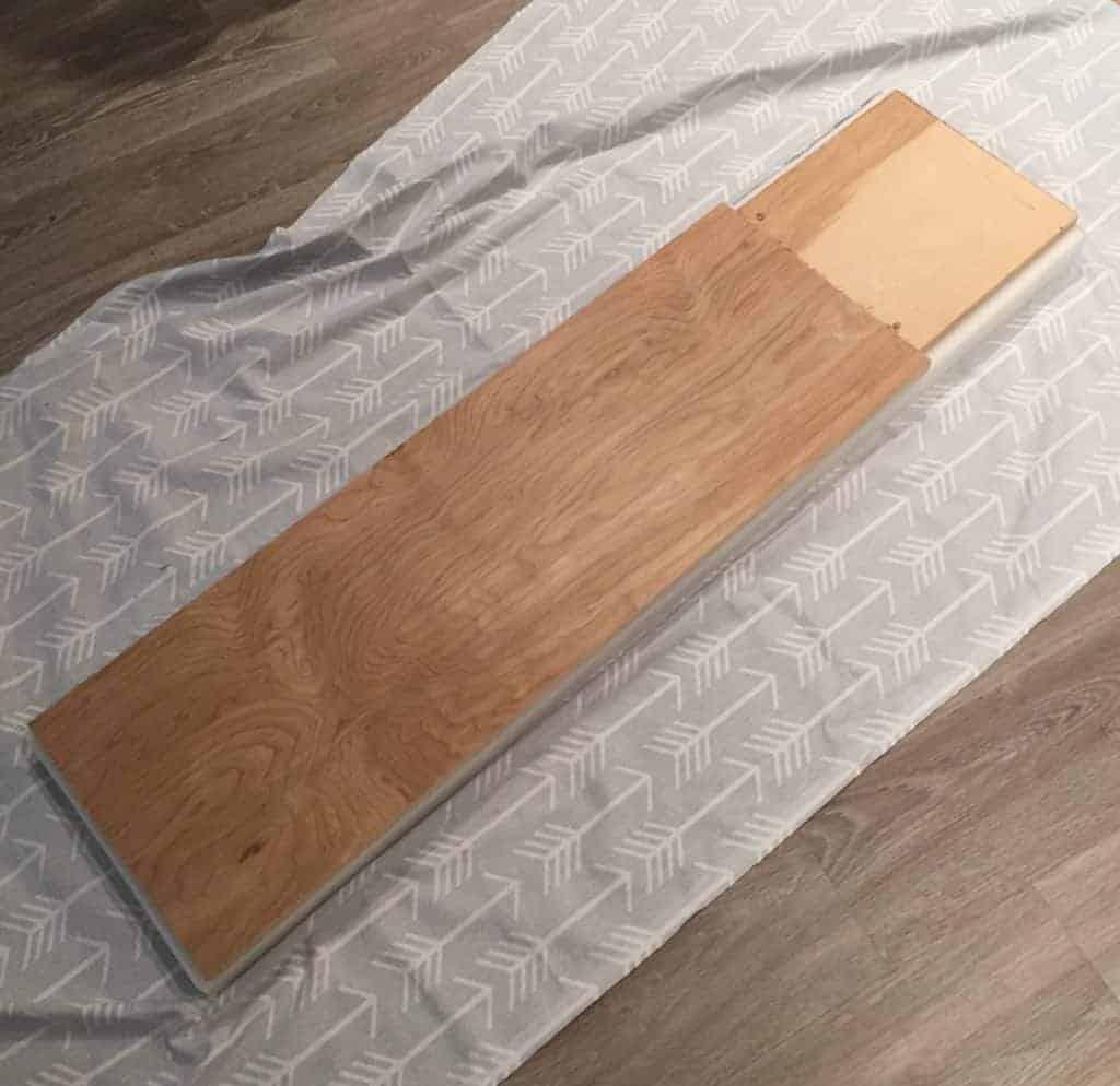 adding plywood to DIY bench seat cushion