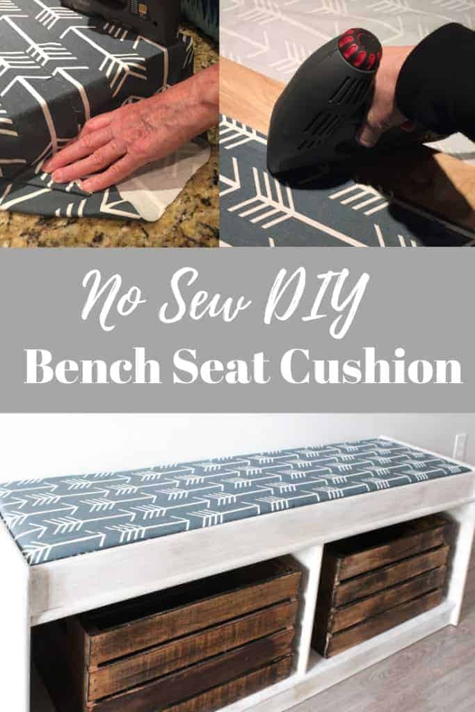 No Sew DIY Bench seat cushion