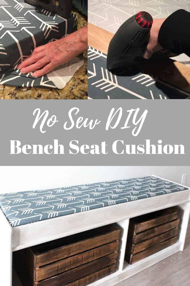 No Sew DIY Bench seat cushion