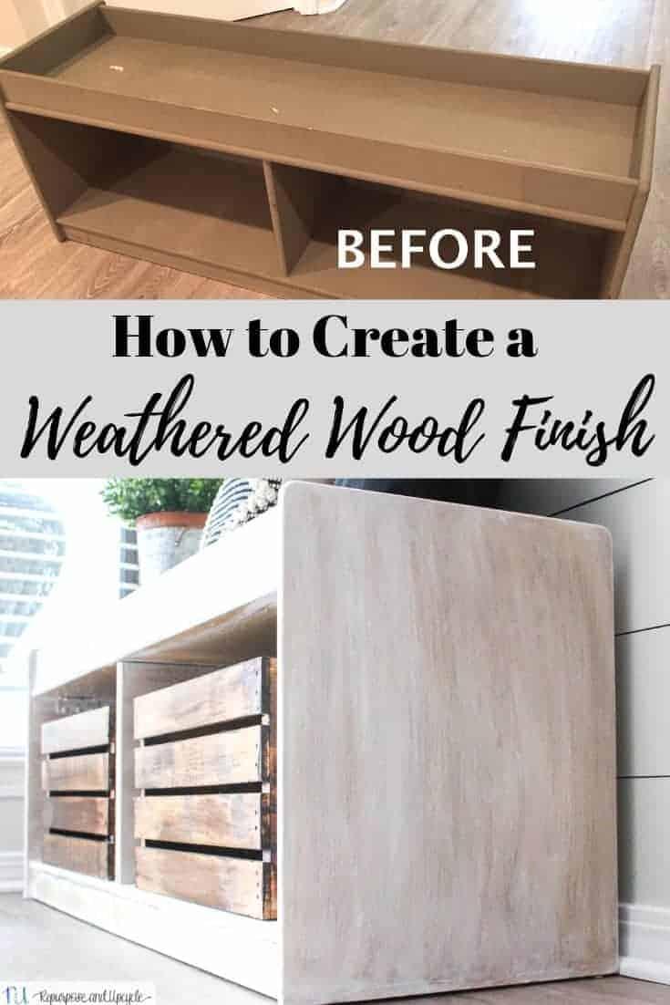 DIY weathered wood finish