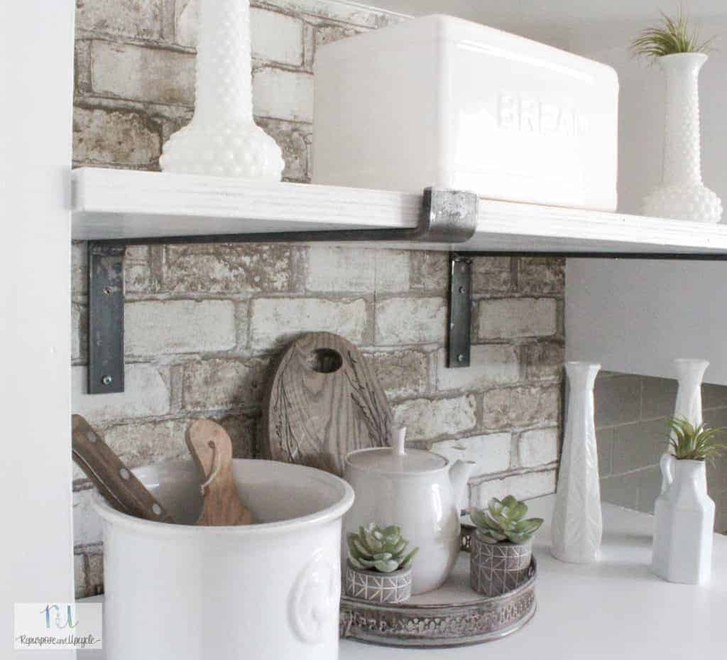 DIY kitchen open shelves