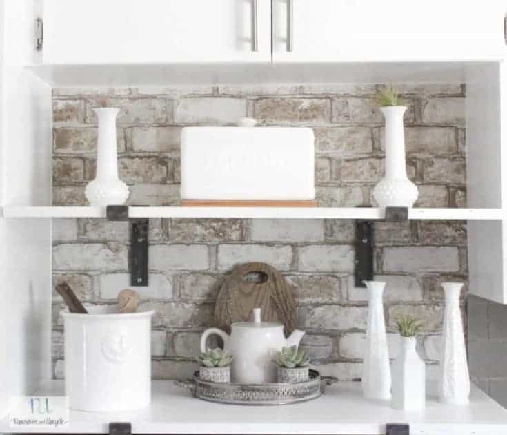 Kitchen Cubby Makeover with Open Shelves for Storage
