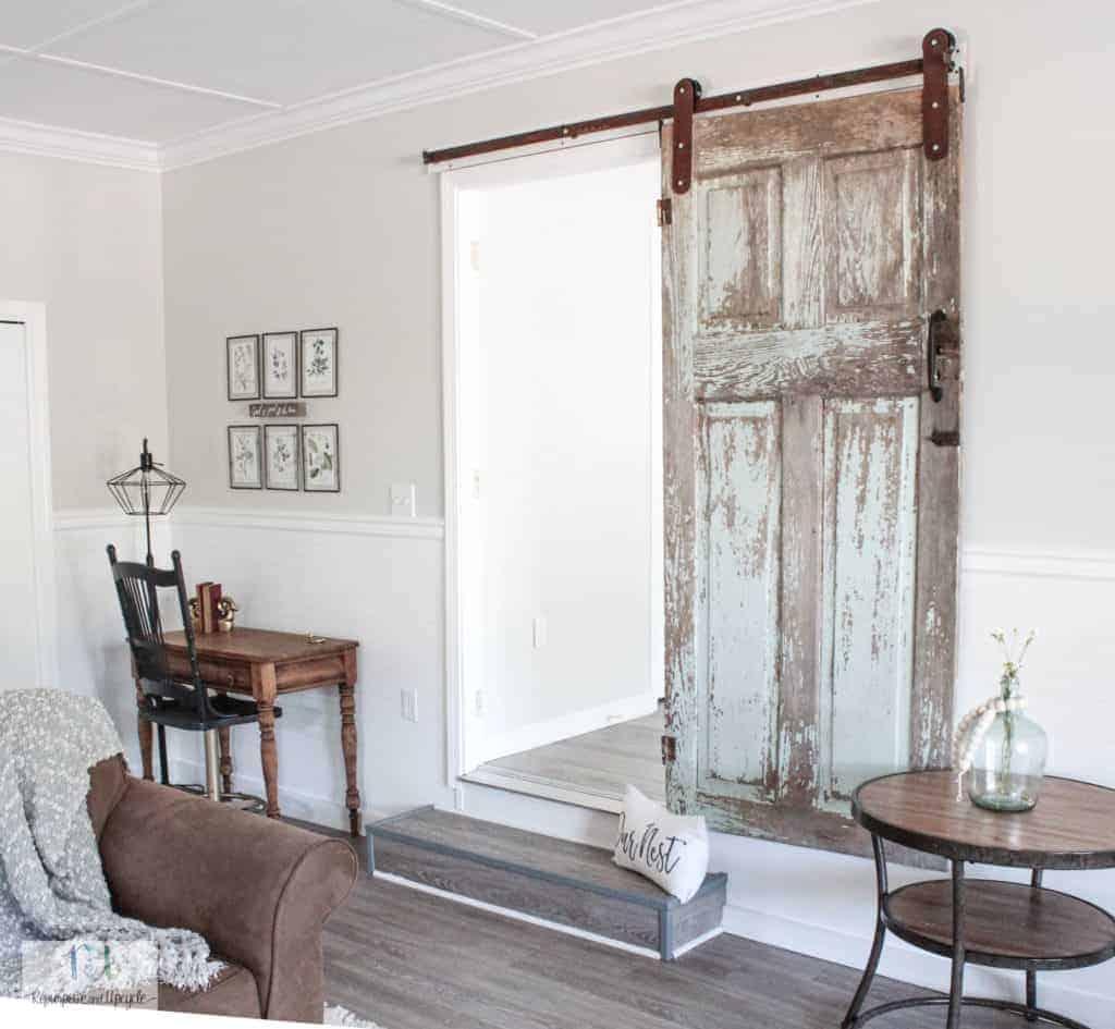 Chippy antique barn door