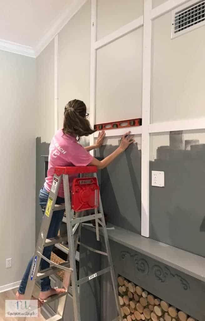 installing DIY board and batten