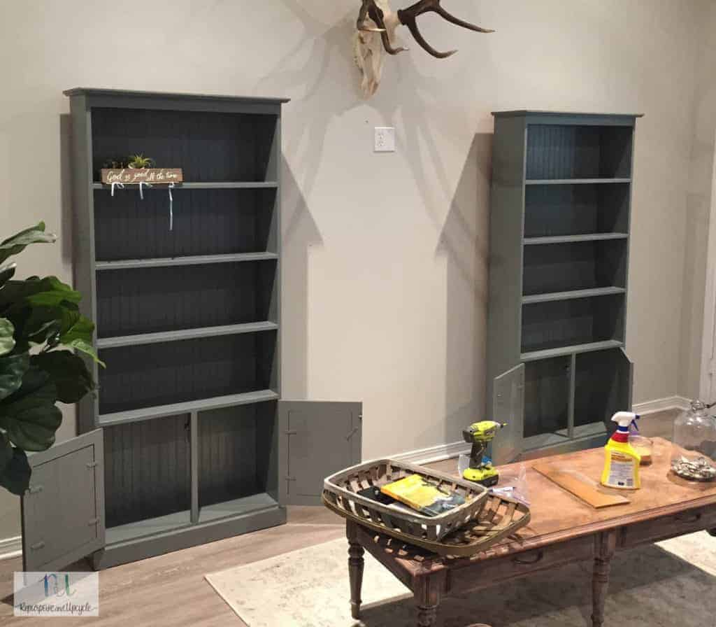 bookcases for the feature wall