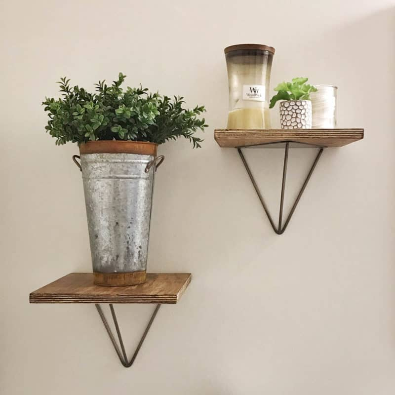 Easy Bathroom Shelves with Prism Shelf Brackets