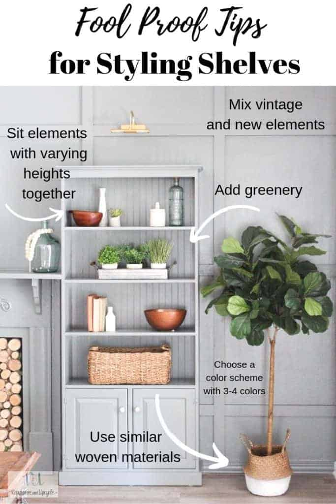 tips for shelf styling