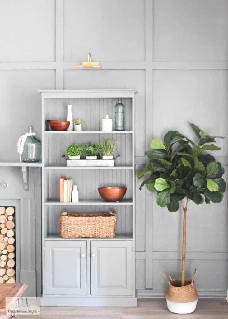 styled shelves