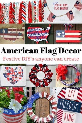 American flag inspired decor