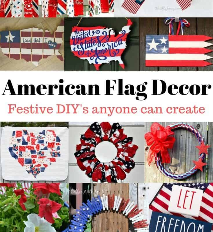 American flag inspired decor