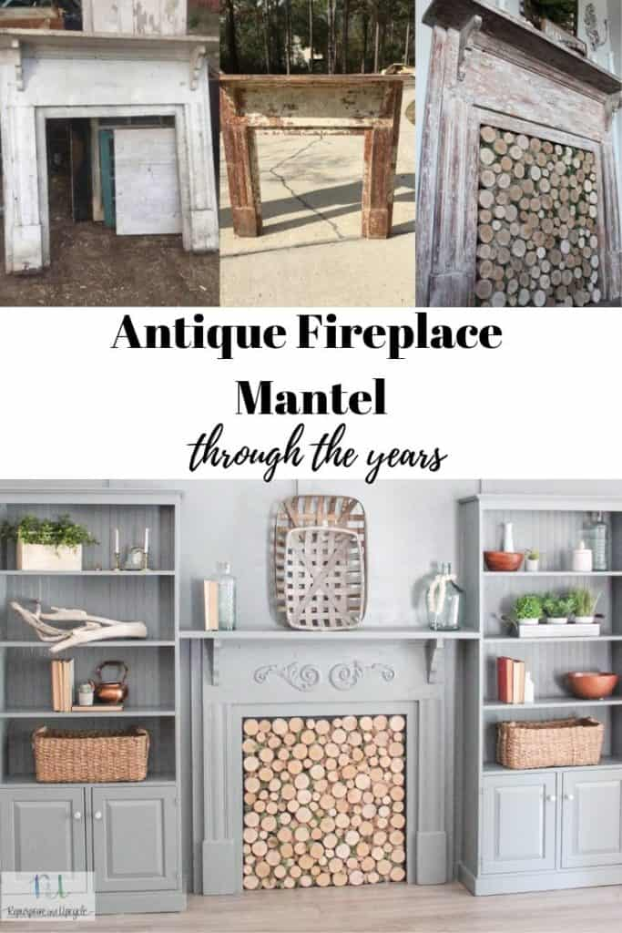 antique fireplace mantel through the years