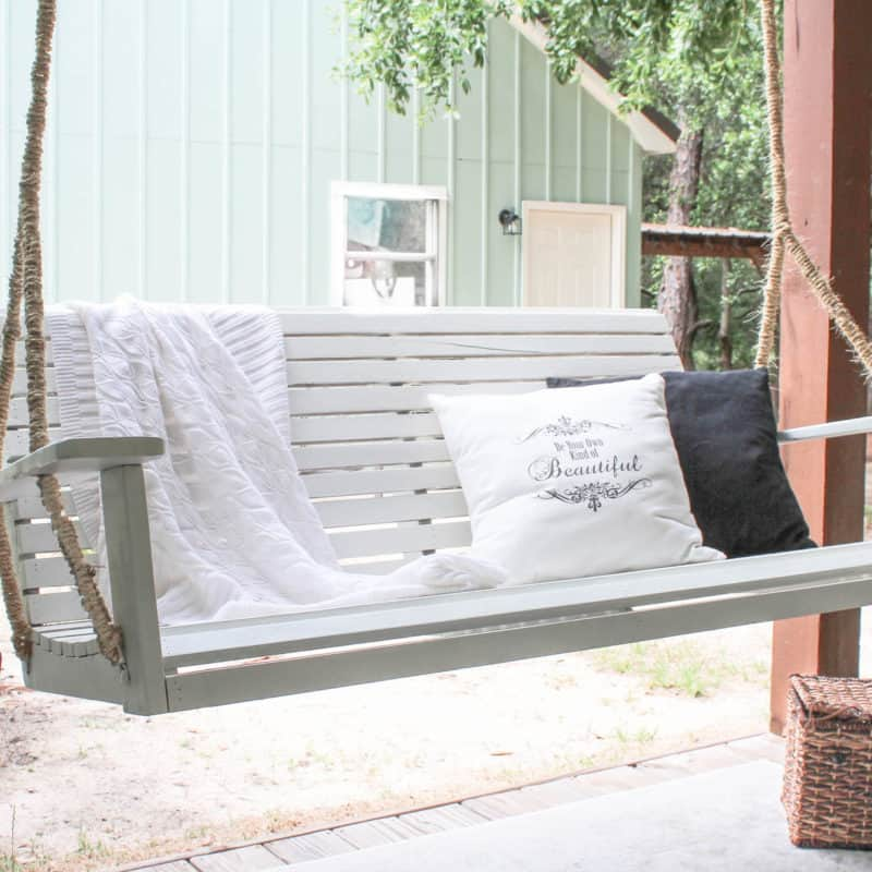 How to Hang a Porch Swing with a Swing Makeover