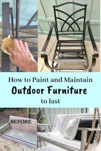 how to paint and maintain outdoor furniture