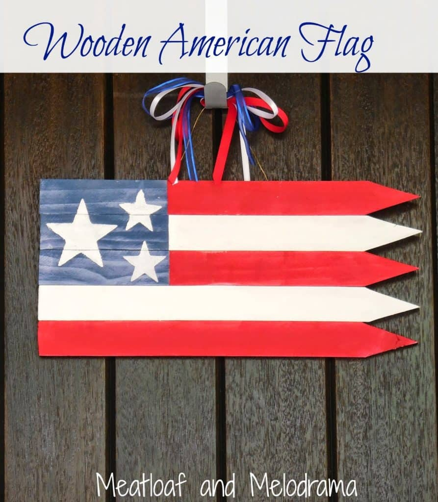 American flag door decor