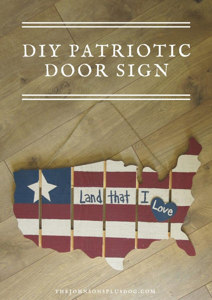 American flag door sign