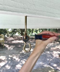 installing porch swing hardware