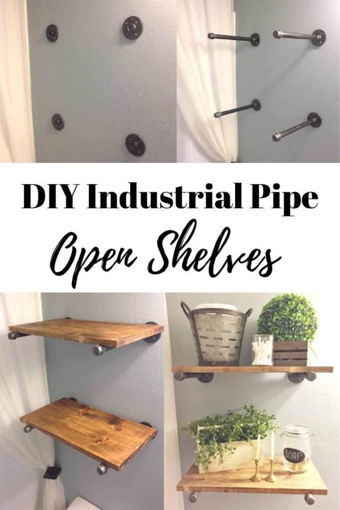 DIY Industrial Pipe Open shelves