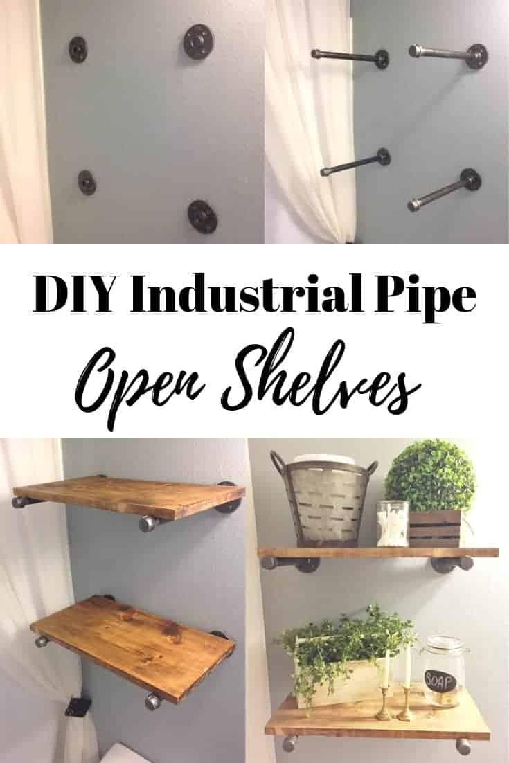 DIY Open Shelves with Plumbing Materials