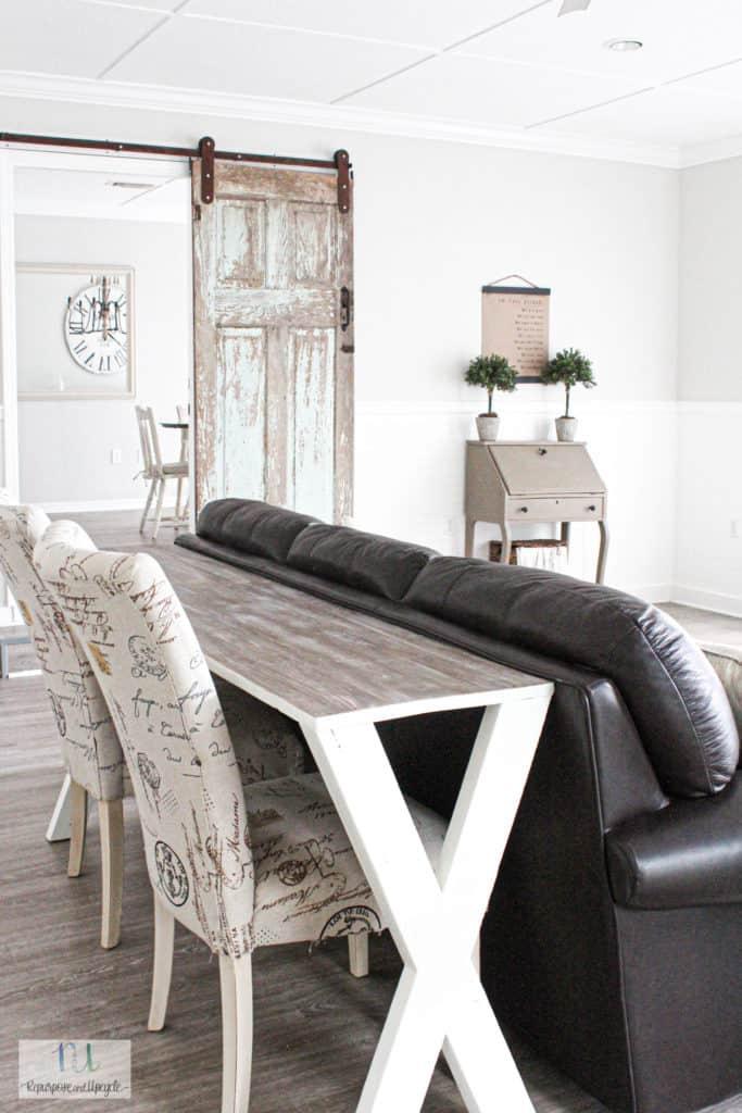 X style sofa table