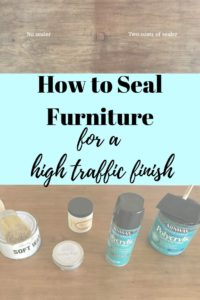 how to seal furniture for high traffic