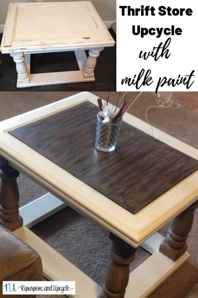 milk painted coffee table
