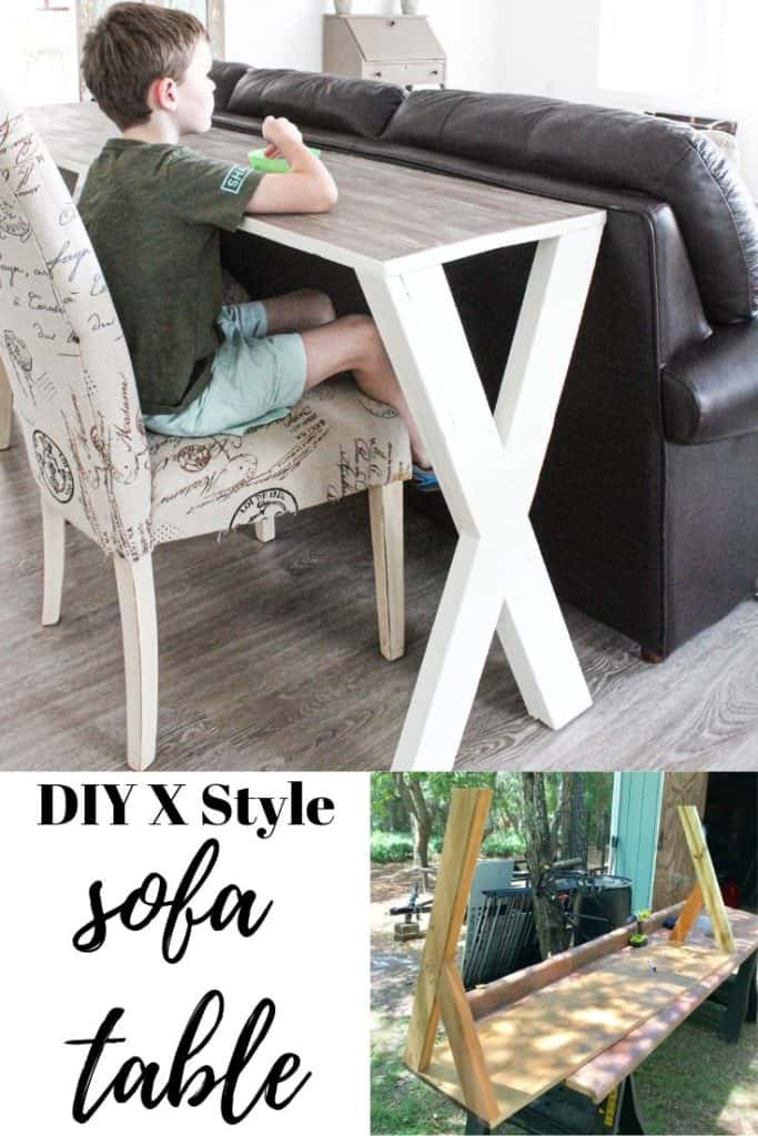 DIY Sofa Table with scrap wood