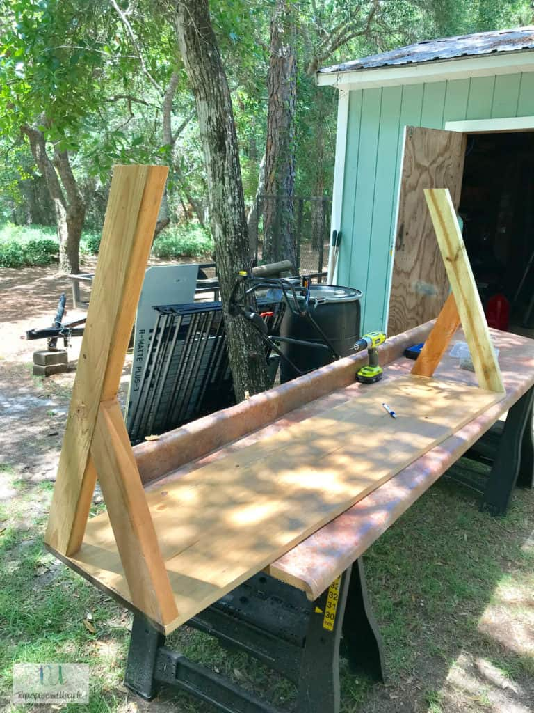 building the X style sofa table
