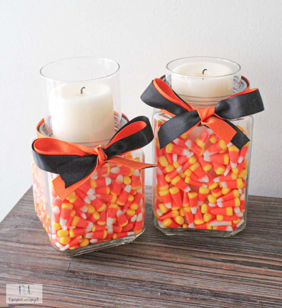 DIY Halloween Candle Holder