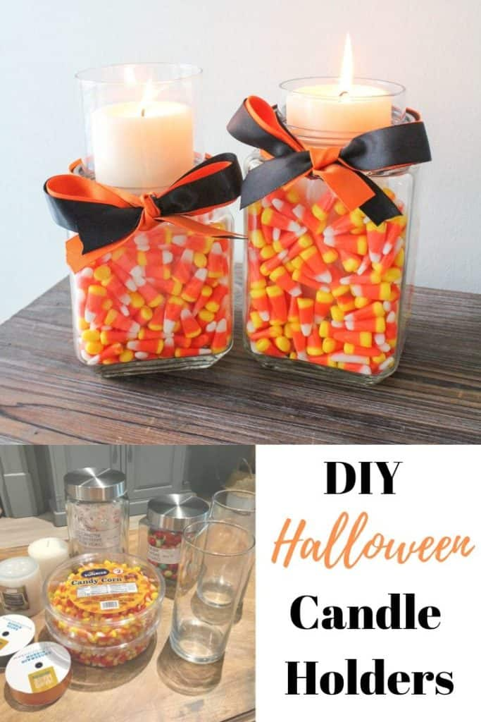DIY Halloween candle holders