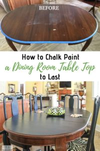 chalk painted table top