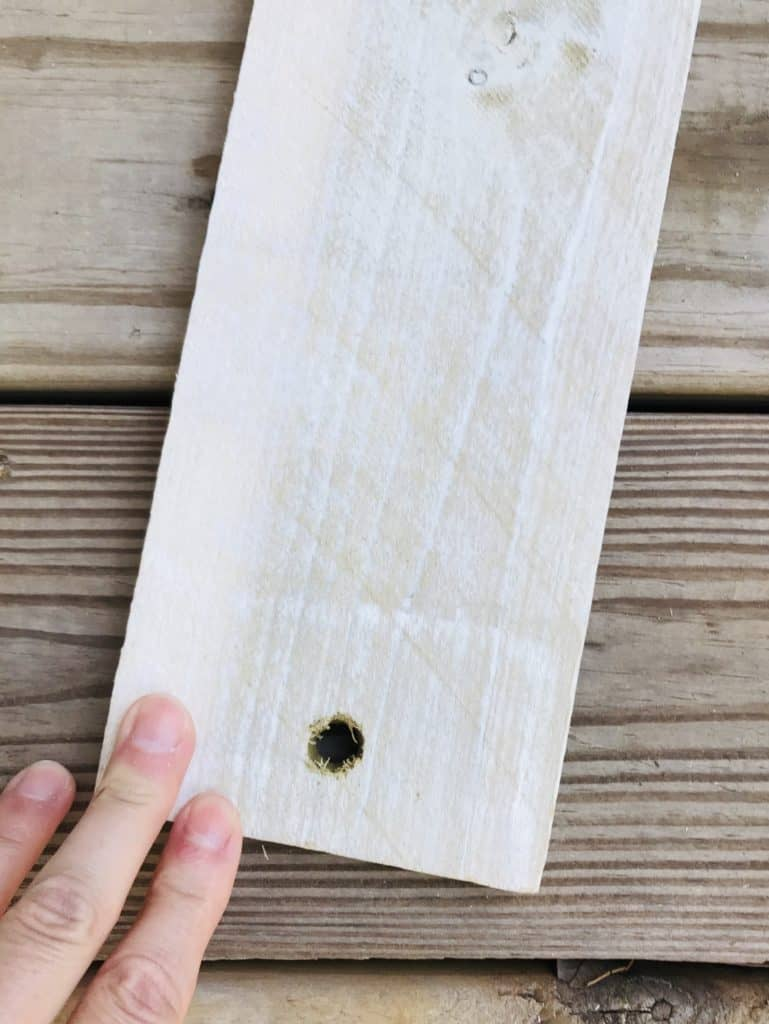 hole in wood for rope